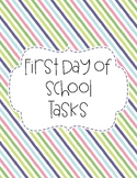 First Day of School Tasks