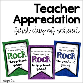 First Day of School Teacher Appreciation