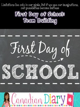 First Day of School: Team Building: Elementary and Junior High Activity Pack