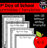 First Day of School Templates
