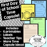 First Day of School Time Capsule