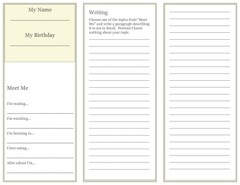 First Day of School Time Capsule Brochure (Changes)