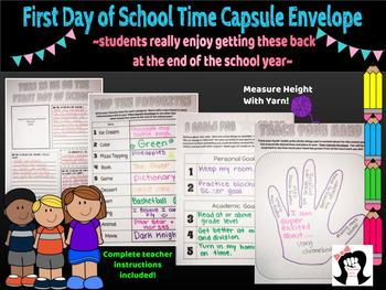 First Day of School: Time Capsule Project