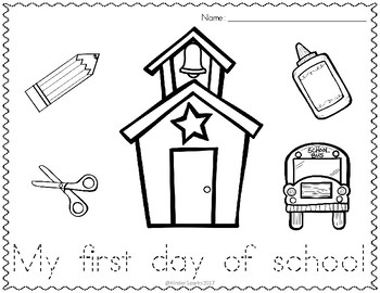 First Day of School Tracing Sheet