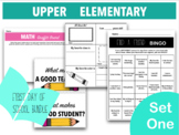 First Day of School Upper Elementary Bundle