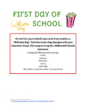 First Day of School Welcome Bag