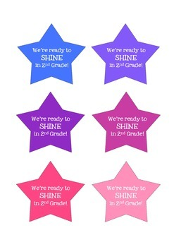 First Day of School - We're Ready to Shine Gift Tags