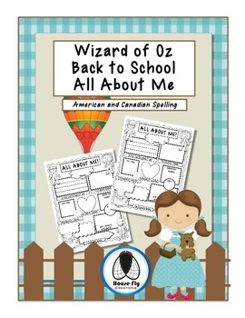 First Day of School - Wizard of Oz All About Me