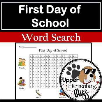 First Day of School Word Search