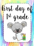 First Day of School Worksheet