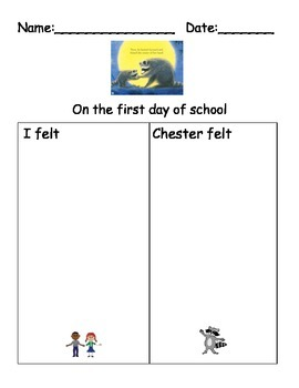 First Day of School Worksheets