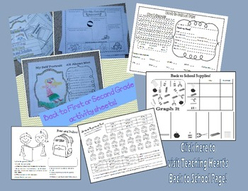 First Day of School Worksheets and Story Organizer for First and Second Grade