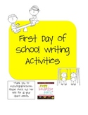 FREE First Day of School Writing Activities