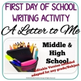 First  Day of School Writing Activity - A LETTER TO ME...