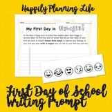 First Day of School Writing - Emojis - Froggy Goes to School