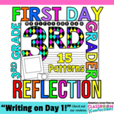 First Day of School for 3rd Grade: Reflection Writing Paper