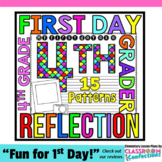First Day of School for 4th Grade: Reflection Writing Paper