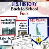 History Back to School Pack