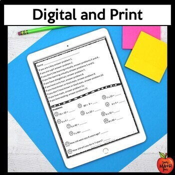 Back to School Math Activities 4th Grade - Digital and Print - Distance Learning