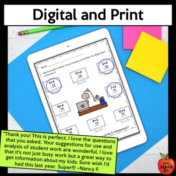 Back to School Math Activities 2nd Grade - Digital and Print - Distance Learning