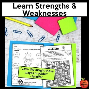 Back to School: First Week of School Third Grade Math Packet
