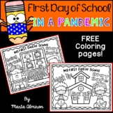 First Day of School in a PANDEMIC {FREE Coloring Pages}