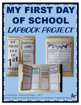 First Day of School lapbook project