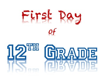 First Day of School photo signs - PRESCHOOL-COLLEGE