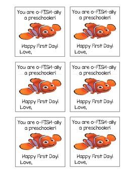 First Day of School Tags - preschool