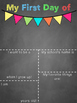First Day of School: printable chalkboard sign