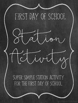 First Day of School stations for Middle Schoolers
