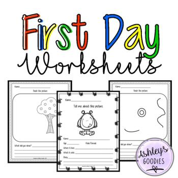 First Day of School (week) Worksheets