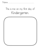 First Day of School worksheet Back to School TK, K, 1st, 2nd, all grades