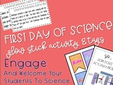 First Day of Science Glow Stick Activity & Tags
