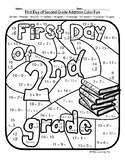 First Day of Second Grade Addition Color Fun