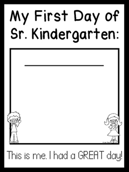 First Day of Senior Kindergarten (SK) Self Portrait
