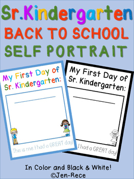 First Day of Senior Kindergarten (SK) Self Portrait