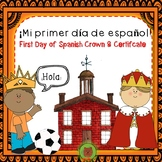 First Day of Spanish Crown & Certificate -Frame Mi Primer