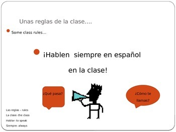 First Day of Spanish I - Teacher introductions