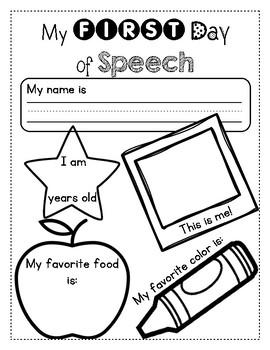 First Day of Speech Activity