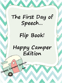 First Day of Speech Flip Book Camper Edition