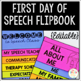 First Day of Speech Flipbook {Editable}