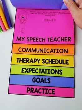 First Day of Speech Flipbook {Editable}