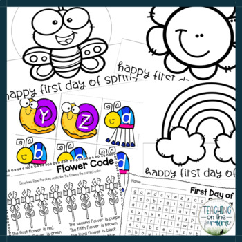 First Day of Spring Hat Activity Pack