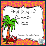 First Day of Summer Hat Activity Pack