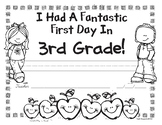 First Day of Third Grade Awards - Free