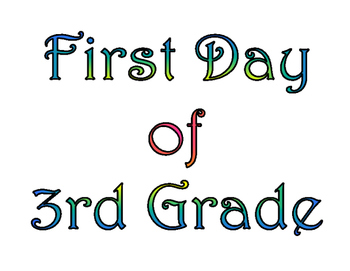 image about First Day of 3rd Grade Sign Printable known as Initial Working day of 3rd Quality Final Working day of 3rd Quality Printable for Photograph