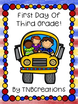 First Day of Third Grade Packet