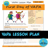 First Day of VAPA Lesson Plan - 3rd-5th Grade {Day 1} - Back to  School!
