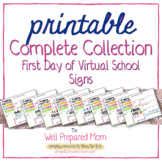 First Day of Virtual School Bundle, ALL grades